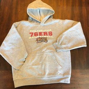 Other - Philadelphia 76ers hooded grey sweatshirt sz 8